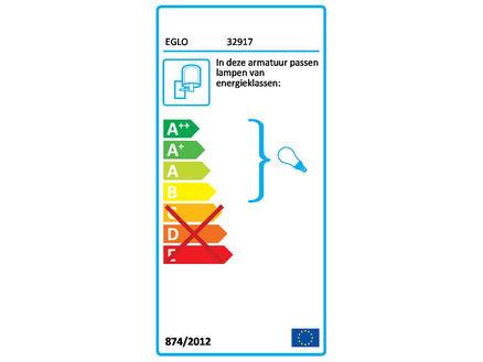Eglo Townshend wandlamp E27 10W zwart/hout