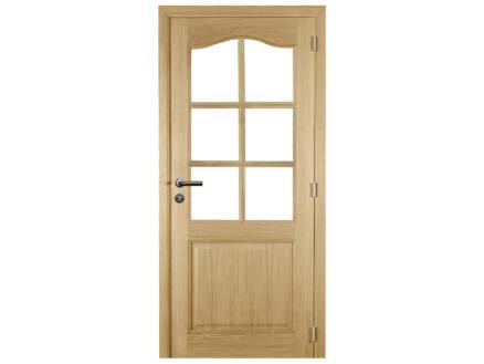 Solid Tradizione Oak porte intérieure avec vitres 201x73 cm chêne brun
