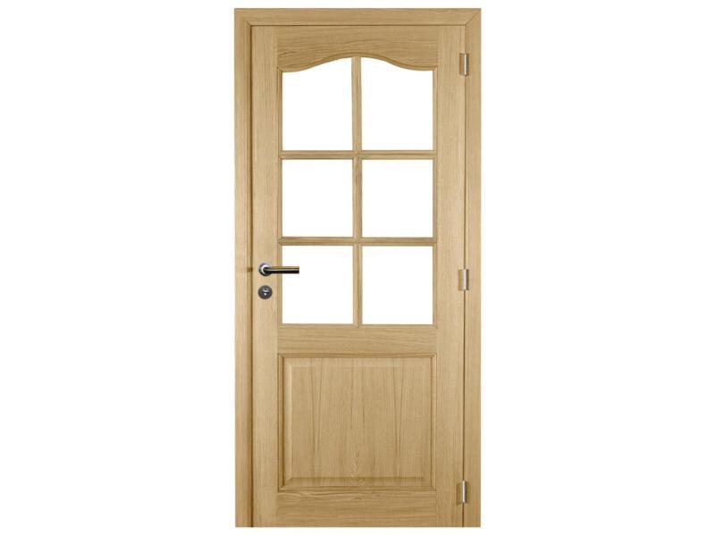 Solid Tradizione Oak porte intérieure avec vitres 201x78 cm chêne brun