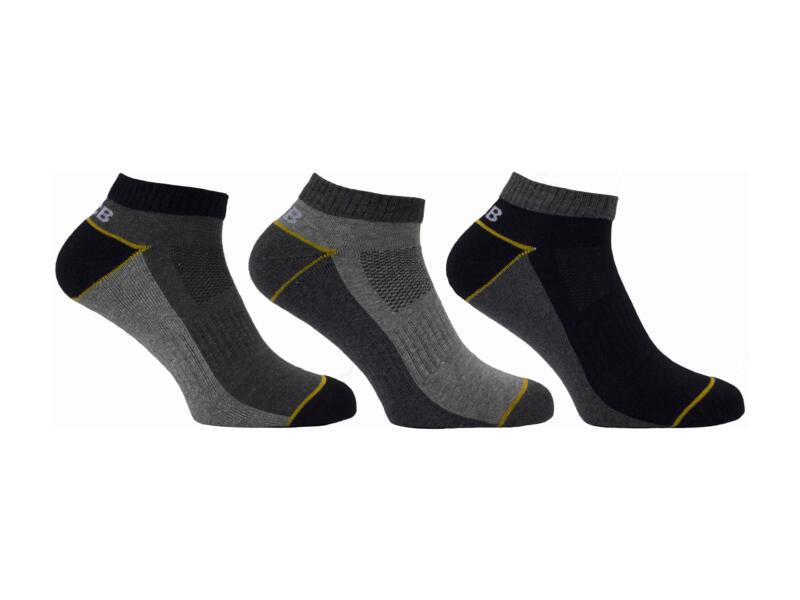 JCB Trainer Liner chaussettes courtes 44-47 gris 3 paires