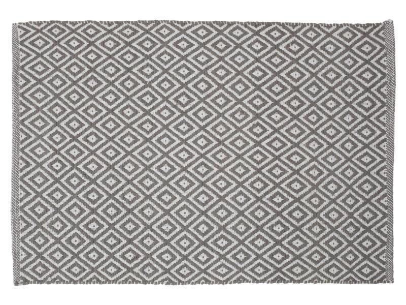 Sealskin Trellis tapis de bain 90x60 cm gris