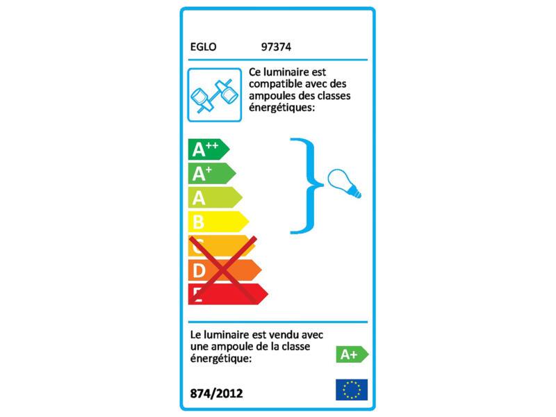 Eglo Trillo barre de spots LED GU10 4x5 W blanc/noir