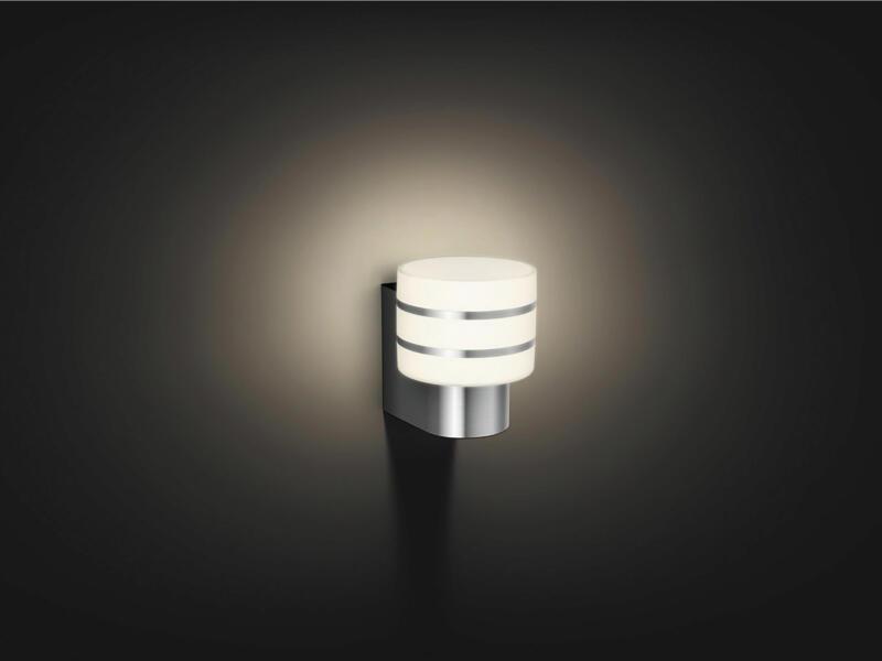 Philips Hue Tuar wandlamp E27 9W dimbaar inox