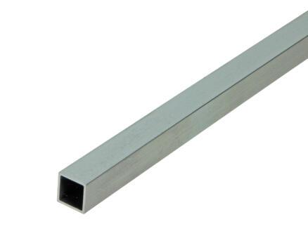 Arcansas Tube carré 1m 15x15 mm aluminium naturel