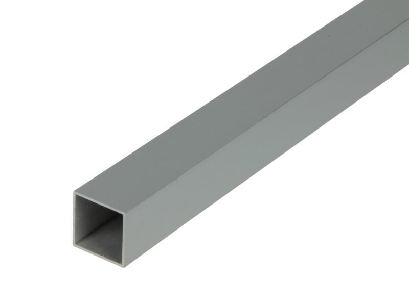 Arcansas Tube carré 2m 20x20 mm aluminium mat anodisé