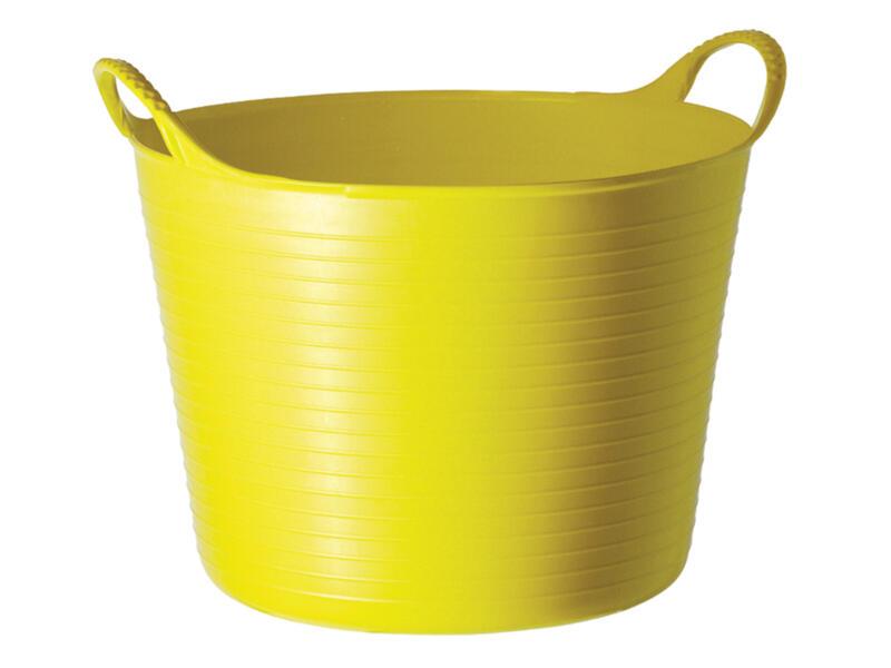 Tubtrug flexibele tuinmand 14l geel