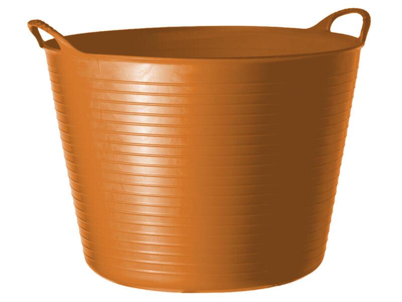 Tubtrug flexibele tuinmand 14l oranje