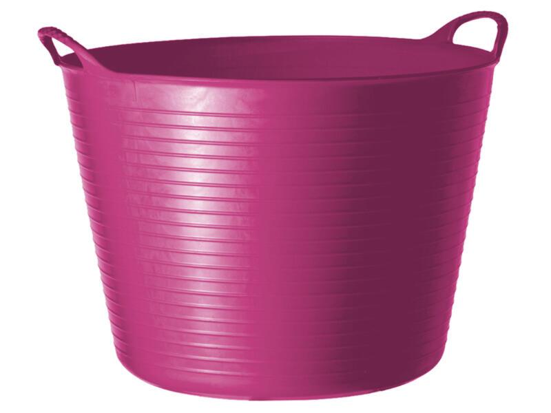 Tubtrug flexibele tuinmand 14l roze
