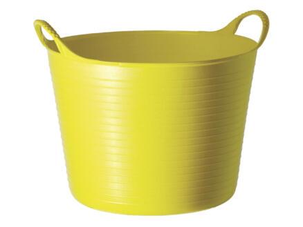 Tubtrug flexibele tuinmand 42l geel