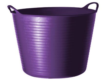 Tubtrug seau de jardin souple 14l violet
