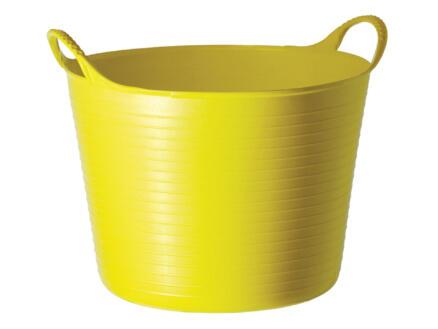 Tubtrug seau de jardin souple 26l jaune