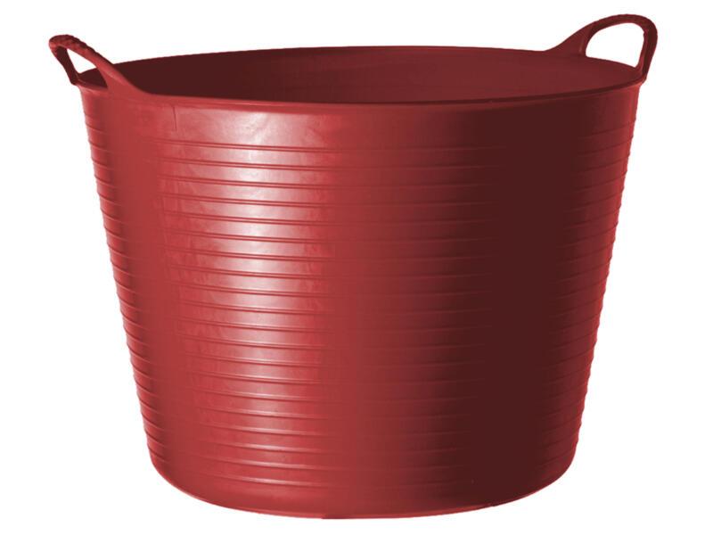 Tubtrug seau de jardin souple 26l rouge