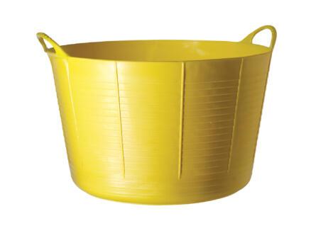 Tubtrug seau de jardin souple 75l jaune