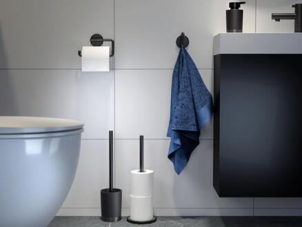 Tiger Tune WC-borstel met houder vrijstaand metaal geborsteld/zwart