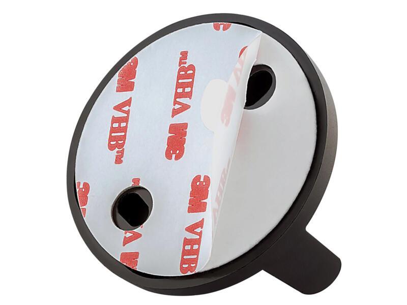 Tiger Tune porte-papier toilette avec clapet métal brossé/noir