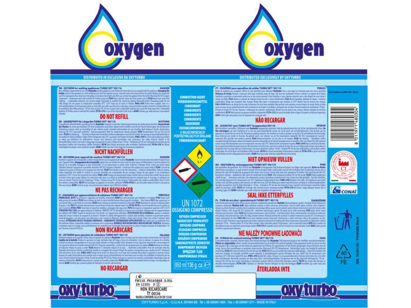 Oxyturbo Turbo 90 zuurstoffles