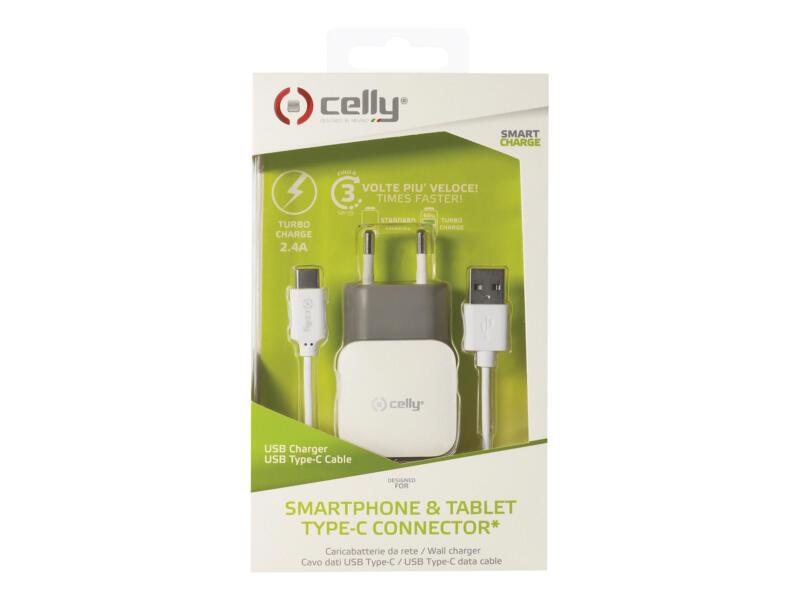 Celly Turbo adaptateur secteur USB/C 2,4A
