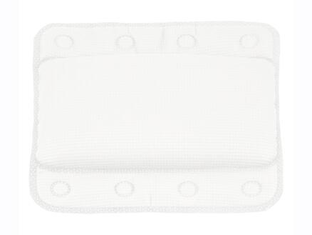 Differnz Tutus coussin baignoire antidérapant 33x32 cm blanc
