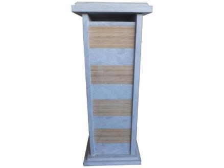 De Witte Type 73 boîte aux lettres pierre bleue/inox/bambou