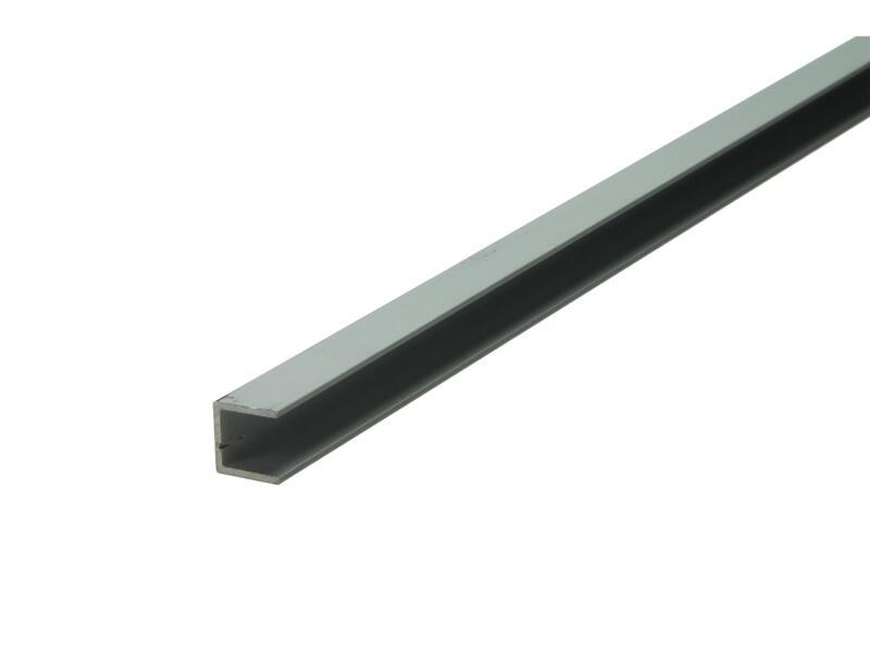 Arcansas U-profiel 1m 10x10 mm geanodiseerd aluminium mat