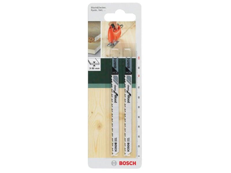 Bosch U101B decoupeerzaagblad HCS 100mm hout 2 stuks