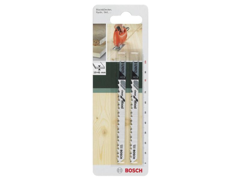 Bosch U101D lame de scie sauteuse HCS 100mm bois 2 pièces