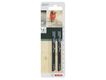 Bosch U111C lame de scie sauteuse HCS 91mm bois 2 pièces