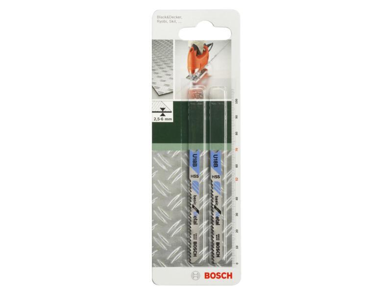 Bosch U18B decoupeerzaagblad HSS 70mm metaal 2 stuks