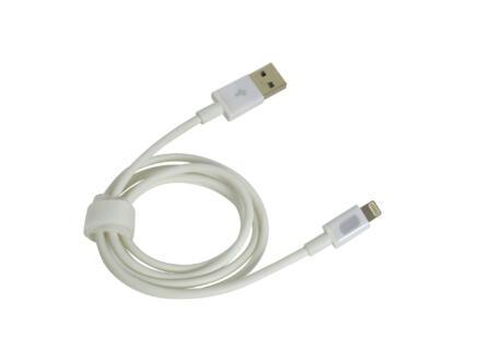 Carpoint USB kabel Apple 8-polig 1m wit