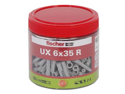 Fischer UX chevilles universelles 6x35 mm 185 pièces