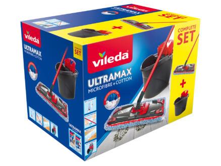 Vileda Ultramax Micro & Coton set de nettoyage vadrouille plate