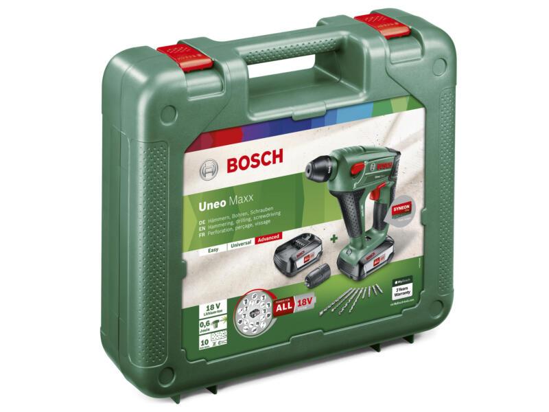Bosch Uneo Maxx accu boorhamer 18V Li-Ion + 2 accu's