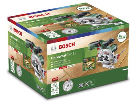 Bosch UniversalCirc 12 scie circulaire à main sans fil 12V Li-Ion 85mm batterie non comprise