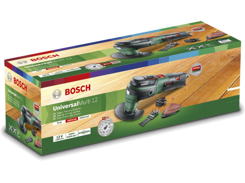 Bosch UniversalMulti 12 multitool sans fil 12V Li-Ion batterie non comprise