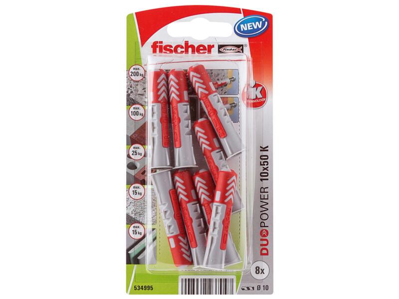 Fischer Universele plug Duopower 10x50 mm 8 stuks