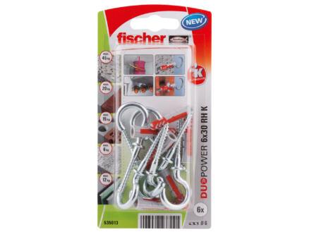 Fischer Universele plug Duopower 6x30 mm 6 stuks