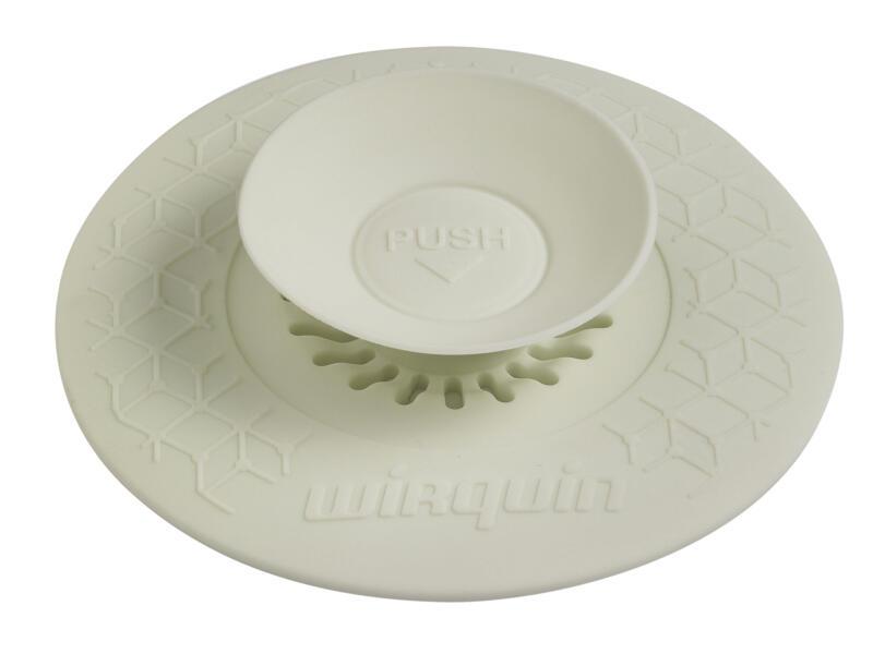 Wirquin Uppy 2-in-1 universele gootsteenstop met filter 110mm wit