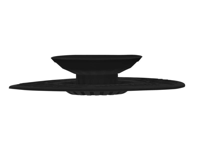 Wirquin Uppy 2-in-1 universele gootsteenstop met filter 110mm zwart