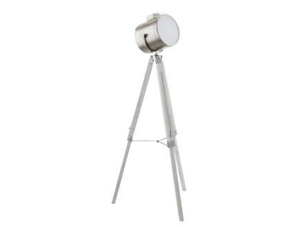 Eglo Upstreet lampadaire trépied E27 60W nickel mat
