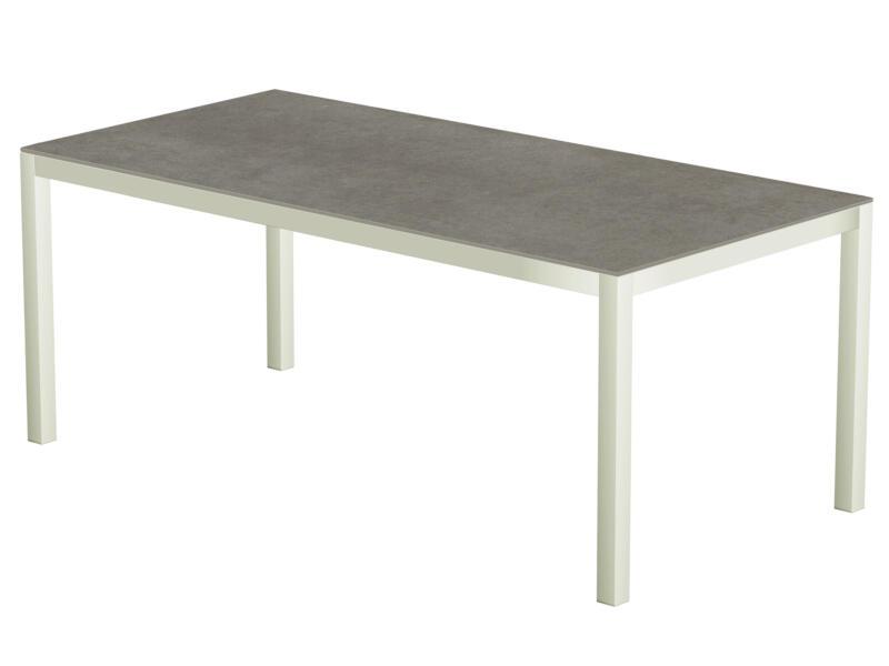 Uptown Dark table de jardin 200x100 cm blanc