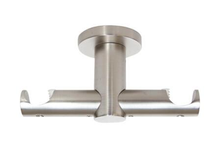 Urban Do support plafond double pour rail de rideau 20mm 5cm RVS
