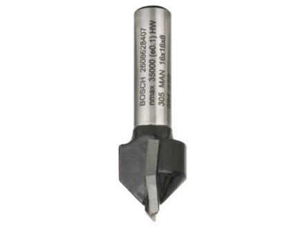 Bosch Professional V-groeffrees HM 16x16 mm