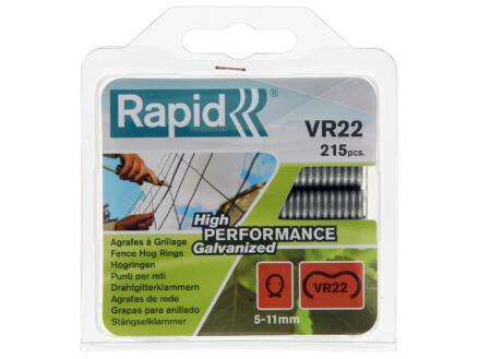 Rapid VR22 agrafes à grillage 5-11 mm gris 215 pièces