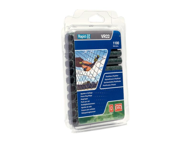 Rapid VR22 agrafes à grillage 5-11 mm vert 1100 pièces