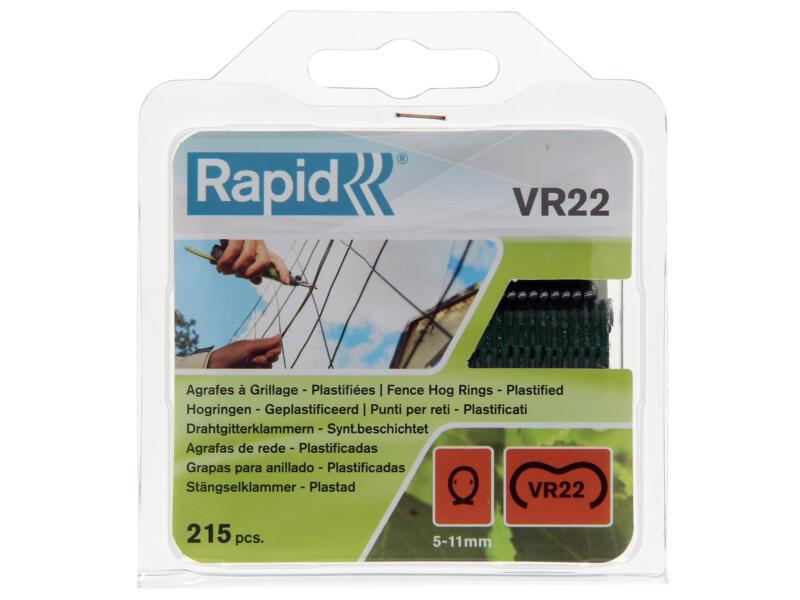 Rapid VR22 agrafes à grillage 5-11 mm vert 215 pièces