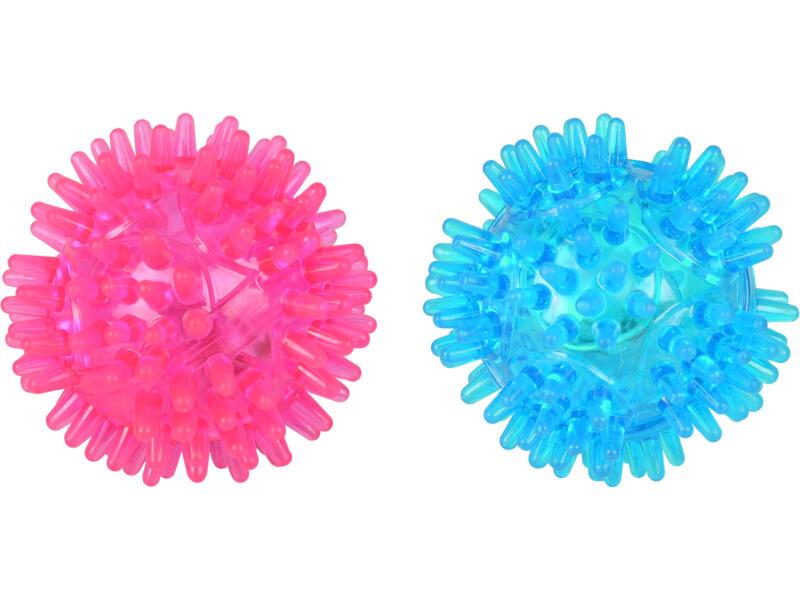 Flamingo Valda Spiky Ball kattenspeelgoed 5cm 2 stuks