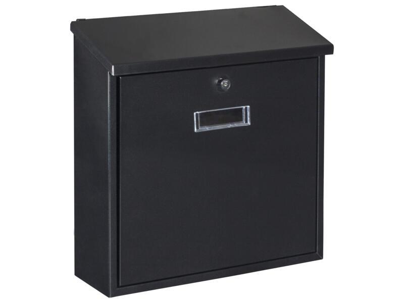 Starcko Valencia brievenbus gelakt staal zwart