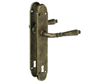 Yale Valerie BB110 poignée de porte avec plaques 38mm set complet laiton rustique
