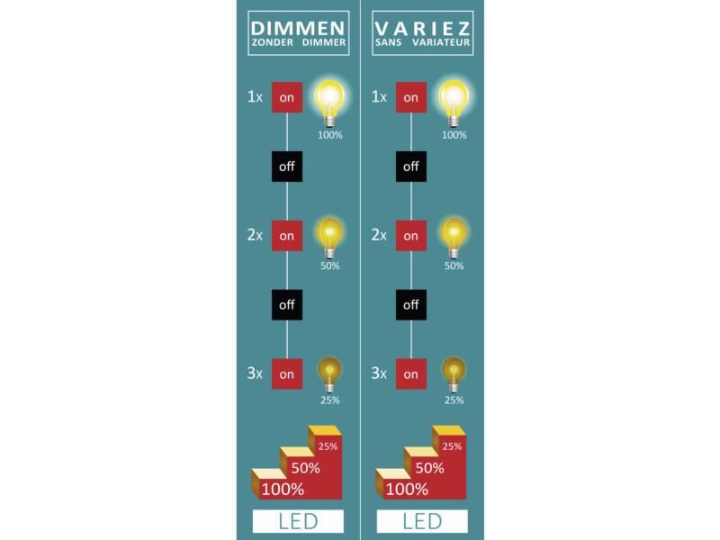 Eglo Vallida barre de spots LED GU10 5x5 W 3-step dimming