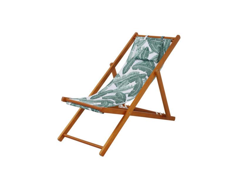 Garden Plus Vao chaise de plage bois